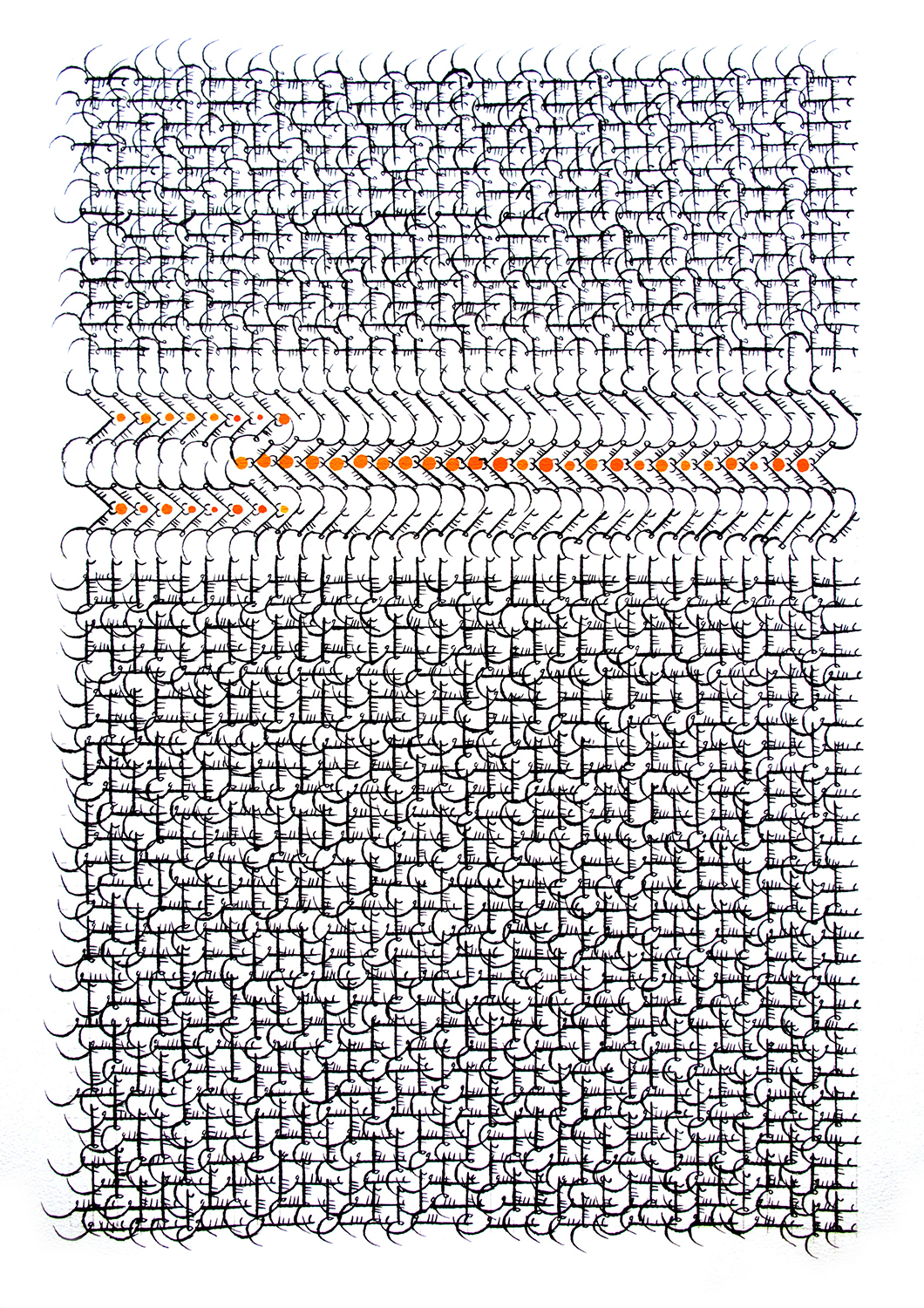 Grid 30, 29 1/2×20 1/2 in. (74.93×52.07 cm) Purchased with funds provided by Art of the Middle East: CONTEMPORARY with additional funds provided by Catherine Benkaim and Barbara Timmer, 2013.