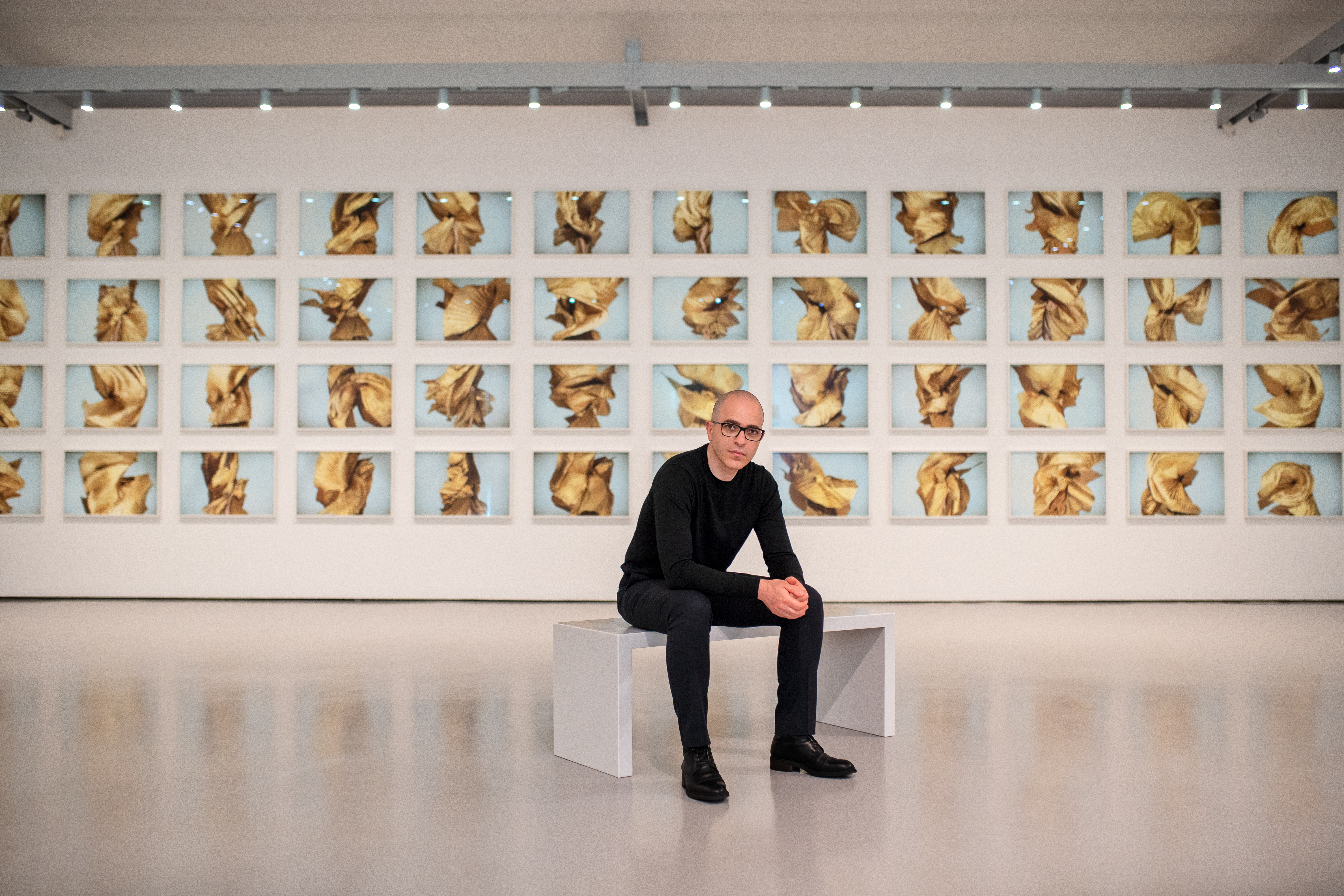 Youssef Nabil at his exhibition in Palazzo Grassi Museum in Venice, Italy, in September 2020. ©Matteo De Fina.