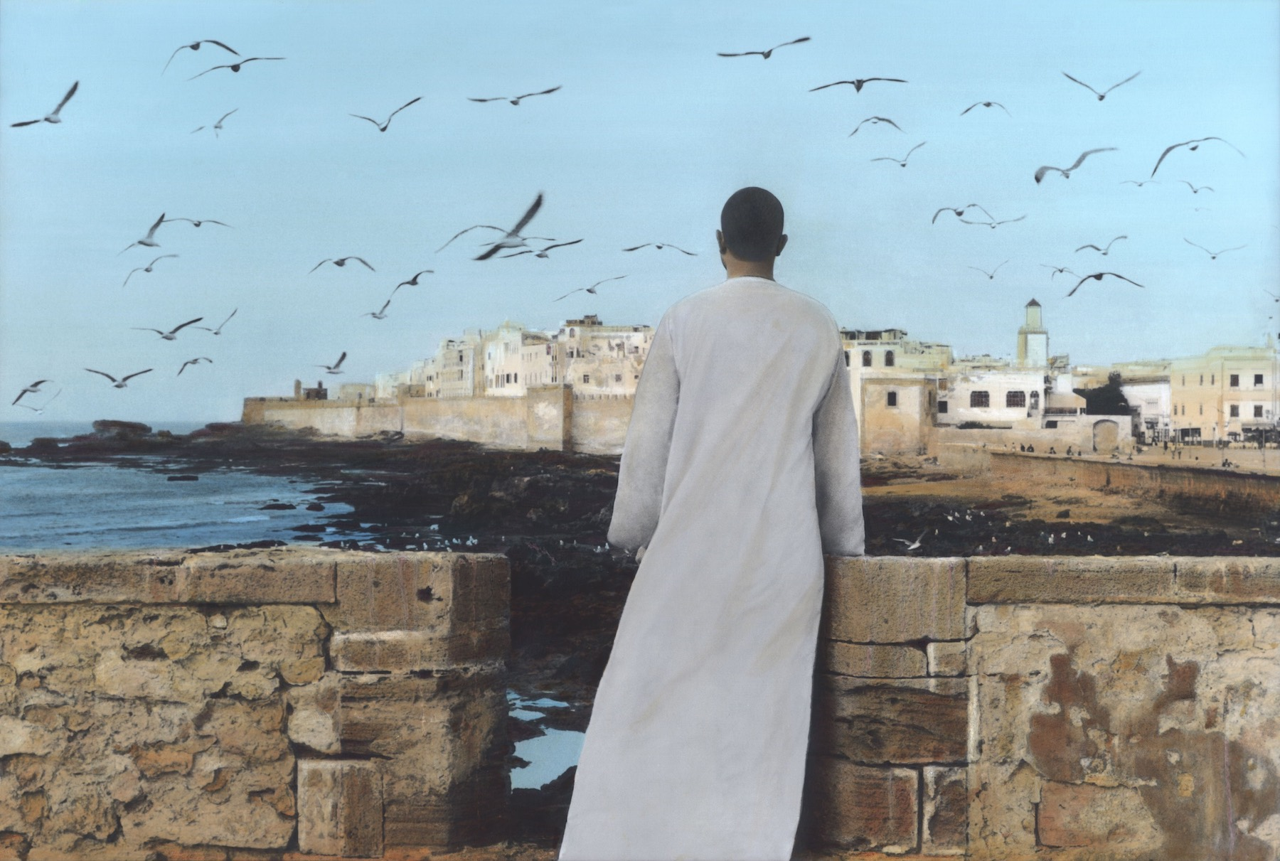 Youssef Nabil - Self-portrait, Essaouira 2011 Hand colored gelatin silver print Courtesy of the Artist and Nathalie Obadia Gallery, Paris/ Brussels