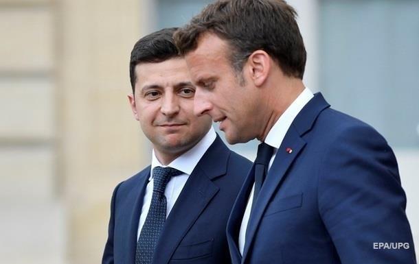 Встреча Макрона и Зеленского затянулась - СМИ